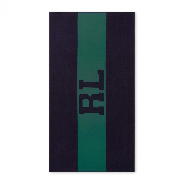 Strandtuchl RL Signature Green/Navy