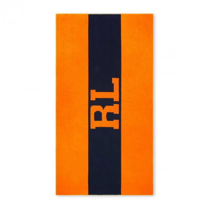 Strandtuchl RL Signature Navy/Orange
