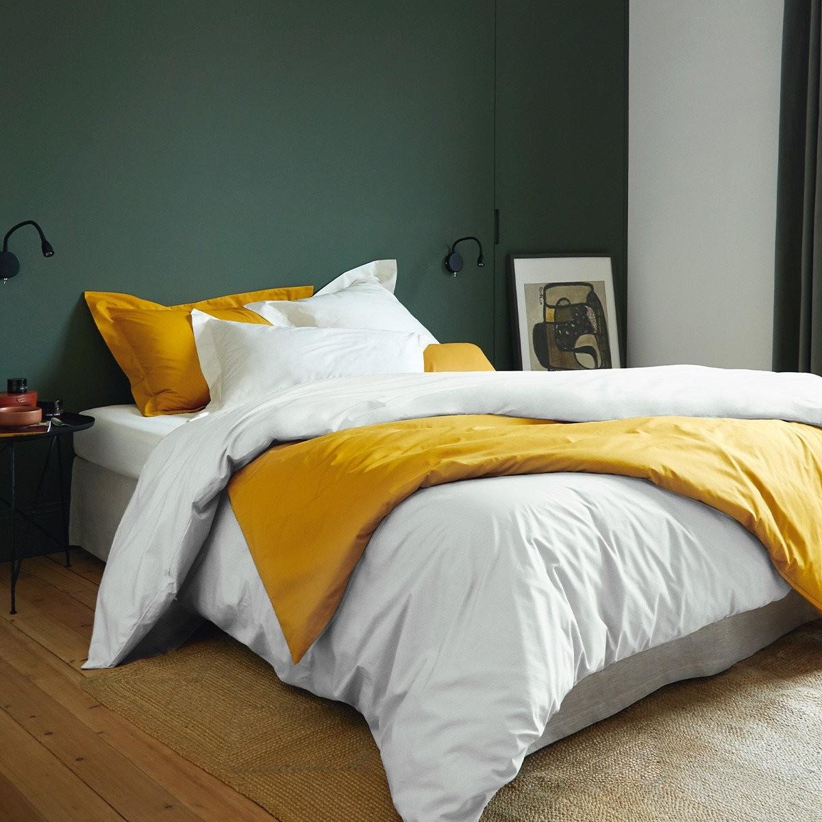 Parure de lit en percale unie 80 fils