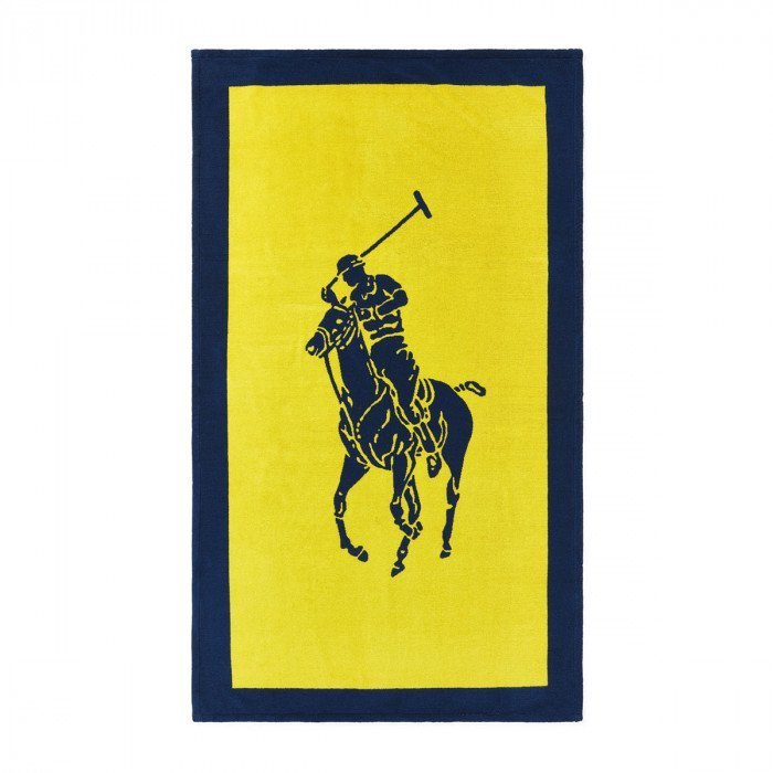 Drap de plage Polo Jacquard Yellow/Navy