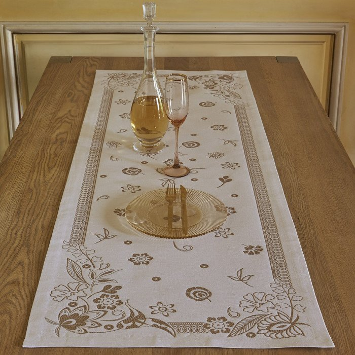 Chemin de table Haute couture Gold