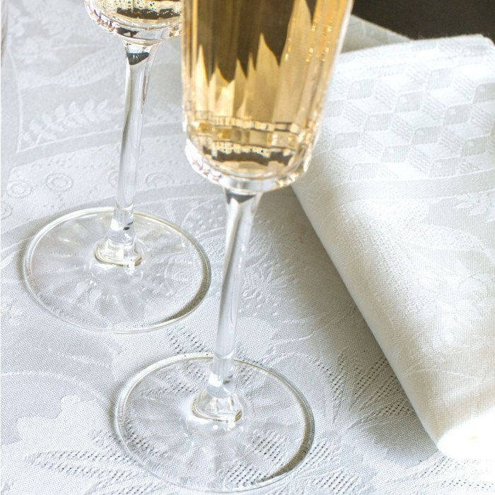 Serviette de table Duchesse Blanc