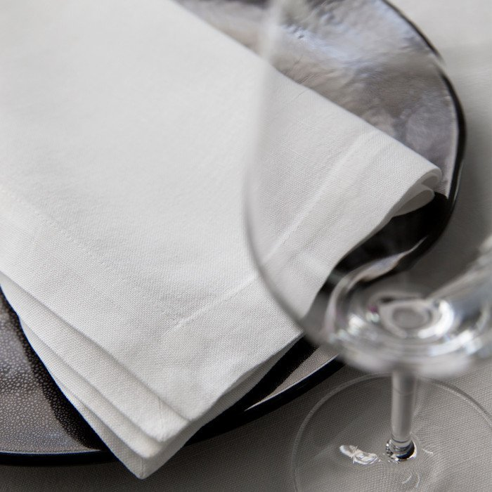 Serviette de table NATTE Blanc