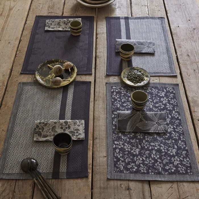 Set de table enduit Slow life maxi Carbone