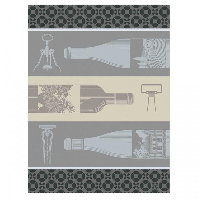 Torchon Vin en Bouteille Blanc