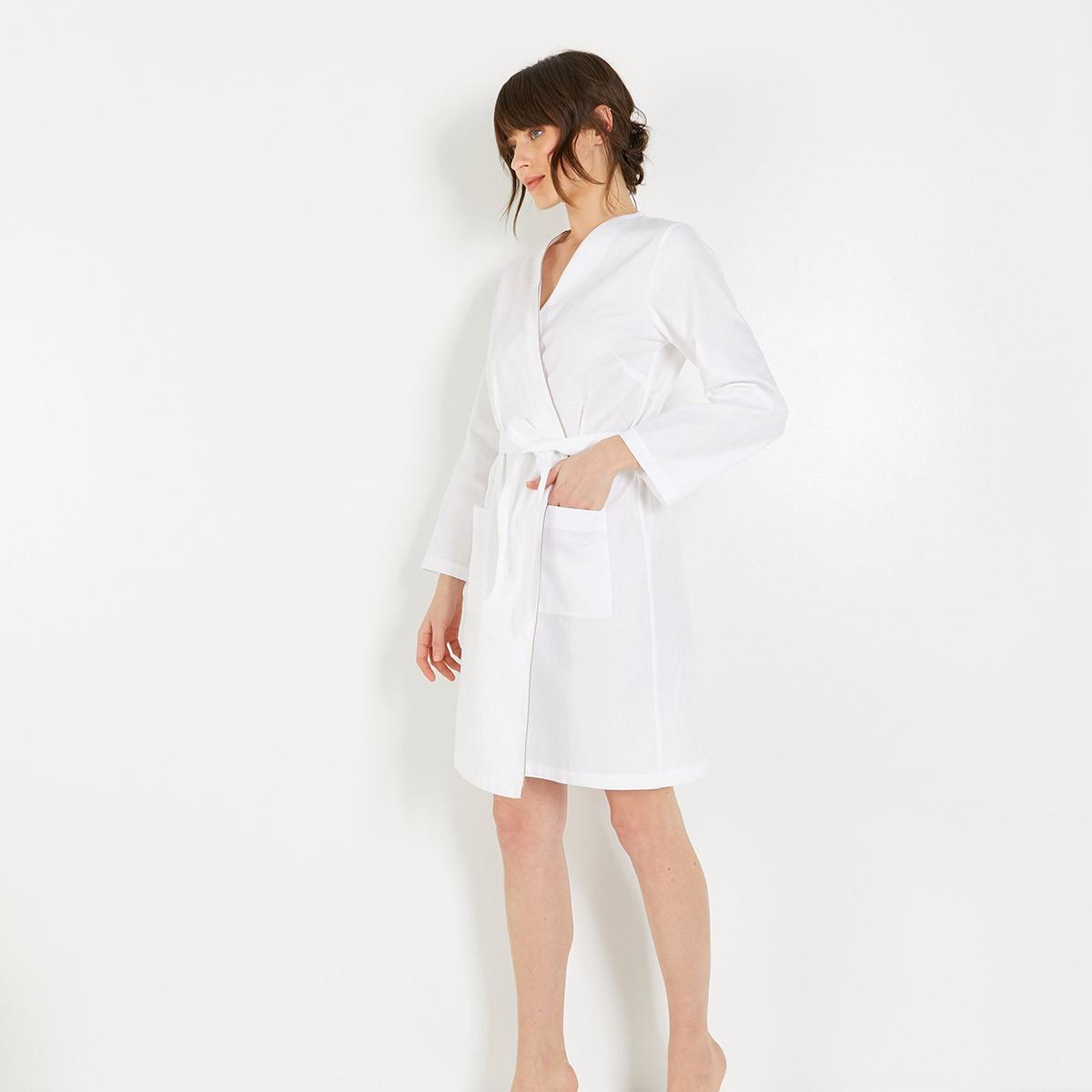 Kimono court Initial Blanc