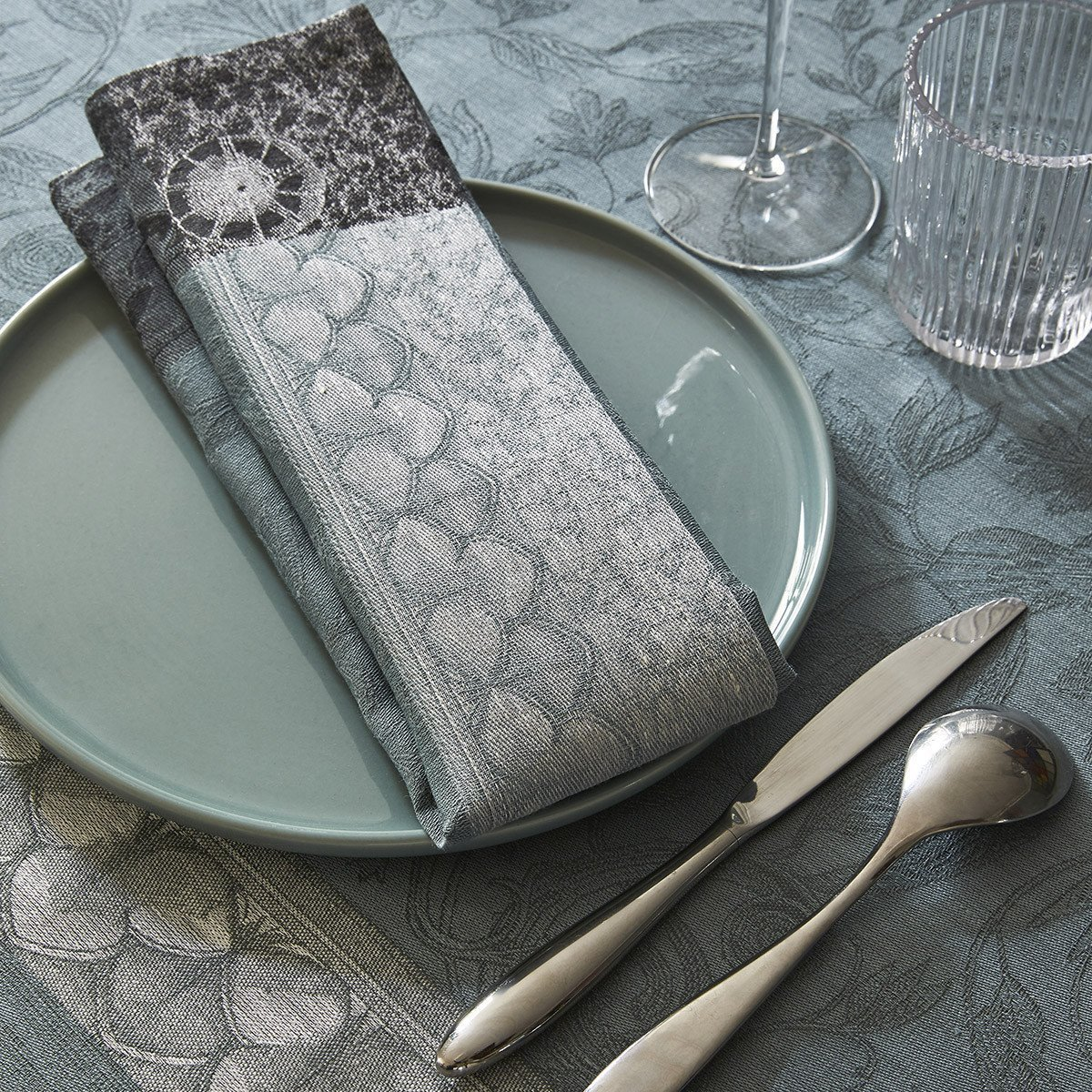 Serviette de table Symphonie Baroque Fumee